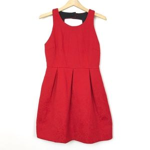 Anthro Moulinette Soeurs Nipped Brocade Red Dress